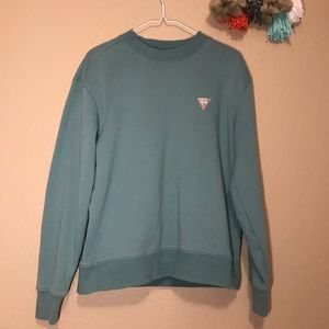 Small Green Guess Crew Neck